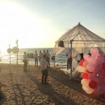 Beach wedding view2