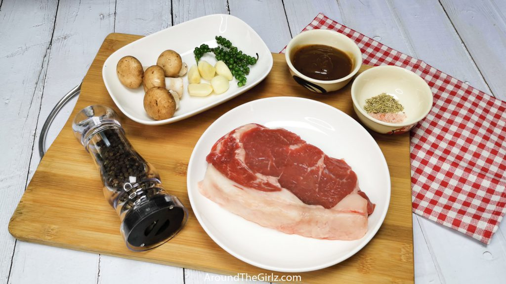 Pepper Rib-Eye Steak Ingredients